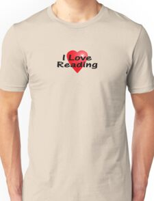I Love Reading Sticker Bookworm T-Shirt Bedspread Story Book Unisex T-Shirt