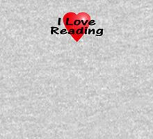 I Love Reading Sticker Bookworm T-Shirt Bedspread Story Book Women's Fitted Scoop T-Shirt