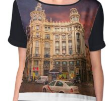 plaza canalejas. madrid Chiffon Top
