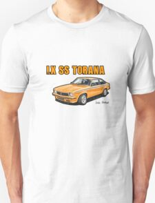 Holden LX SS Torana in Papaya Unisex T-Shirt