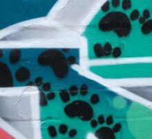 Crazee Cats Graffiti: Cat Pawprints Sticker