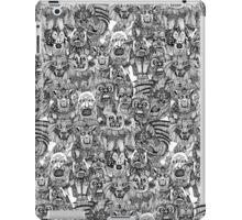 gargoyles black white iPad Case/Skin