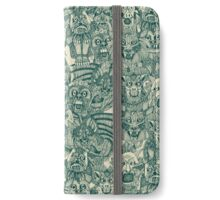 gargoyles teal iPhone Wallet/Case/Skin