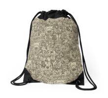gargoyles vintage Drawstring Bag