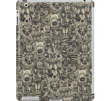 gargoyles vintage black iPad Case/Skin