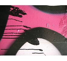 pink graffiti drips Photographic Print