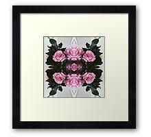 Rorschach Roses Framed Print