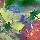 Painting Dragonflies & Orchids A by Vitta