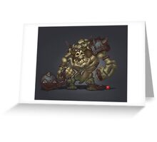 Skeleton Grunt Greeting Card