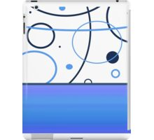 Abstract Blue & White Circles  iPad Case/Skin