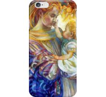 the madam of oriental persimmon with cherub iPhone Case/Skin