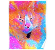 Bella the Cat in Pastel Poster