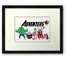 Aventers (Adventure time Avengers) Framed Print