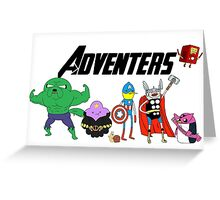 Aventers (Adventure time Avengers) Greeting Card