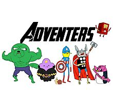 Aventers (Adventure time Avengers) Photographic Print