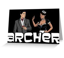 "Archer - Lana ""Sullen wench"" Greeting Card"