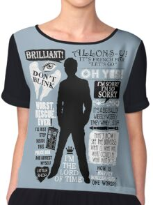 Doctor Who - 10th Doctor Quotes Chiffon Top