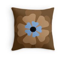 Brown Flower Pattern Throw Pillow