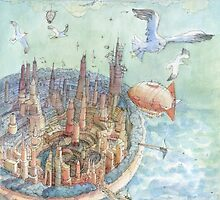 The concentric city by Luca Massone  disegni
