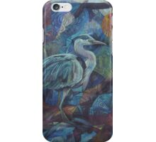 grey heron  iPhone Case/Skin