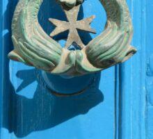 Knock Knock - A Traditional Maltese Door Knocker Sticker