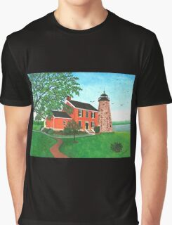 Charlotte-Genesee Lighthouse, Rochester, NY Graphic T-Shirt