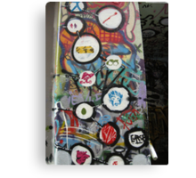 very colourful graffiti icons Canvas Print
