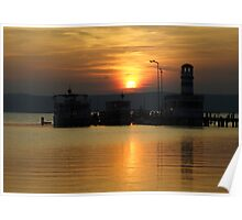 Sunset At Neusiedlersee Poster