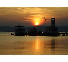 Sunset At Neusiedlersee Photographic Print