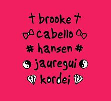 FIFTH HARMONY MEMBER'S NAME Womens Fitted T-Shirt