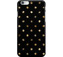 Gold polka dot on black - pattern iPhone Case/Skin