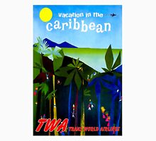 """TWA: Fly to The Caribbean Travel Print Unisex T-Shirt"