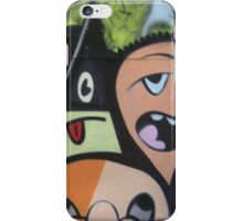 cartoon faces including triangle man iPhone Case/Skin