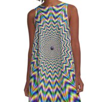 Brain Busting Web A-Line Dress