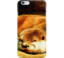 Flat Sleeping Otter iPhone Case/Skin
