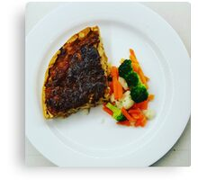 Comfort Food: Onion Tart & Steam Veg Canvas Print