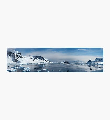 Panorama of Wilhelmina Bay, Antarctica,  Photographic Print