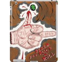 Bleed for Rock n' Roll! iPad Case/Skin