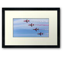 Red Arrows in Flight Framed Print