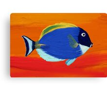 Tropic fish. Oil Painting effect. Canvas Print