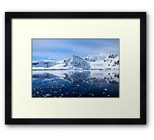 Wilhelmina Bay is a bay 24 kilometres (15 mi) wide between the Reclus Peninsula and Cape Anna Framed Print