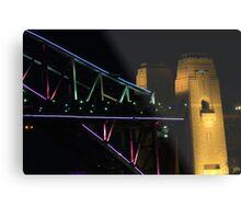 Coloured Bridge Metal Print