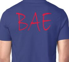 BAE, before anyone else, baby, sweetie, Red on Navy, Blue Unisex T-Shirt