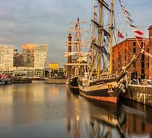 Pelican and Mercedes tall ships by Paul Madden