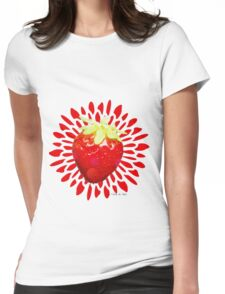 Summer pop - red strawberry Womens Fitted T-Shirt