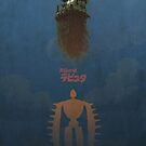 Ghibli Minimalist 'Laputa: Castle in the Sky' by doodlewhale