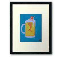 Beer Mermaid Framed Print