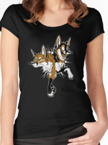 STUCK Foxes (red) Women's Fitted Scoop T-Shirt