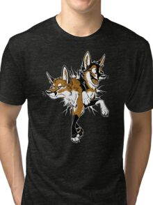 STUCK Foxes (red) Tri-blend T-Shirt