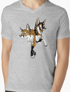STUCK Foxes (red) Mens V-Neck T-Shirt